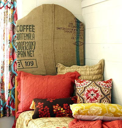 HomeServe home repair professionals bring you ideas, tips, tricks and solutions to decorate your home with recycled textiles and textiles in economical and very original DIY crafts.