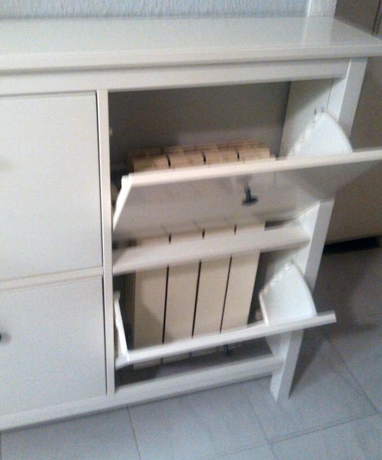 Mueble para radiador cheap muebles en escalera mueble - Muebles para cubrir radiadores ...