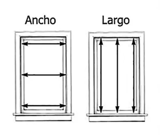 Aprende c mo medir tus ventanas correctamente en caso de for Medidas estandar de ventanas argentina